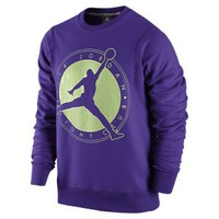 Nike Jordan Flight Club Graphic Crew Men's Sweatshirt - Court Purple