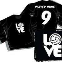 """LOVE"" - Long Sleeve Volleyball T-shirt"