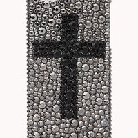 Rhinestoned Cross Phone Case | FOREVER 21 - 1000076113