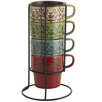 Scroll Stacking Mugs