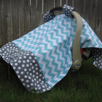 Infant Car Seat Canopy Car Seat Cover by LittleBugBlankets on Etsy