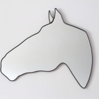 Horse Mirror Left / Handmade Wall Mirror