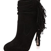 Pampa Suede Fringe Booties