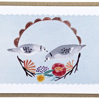 two little pige | Cards and Tags | Poppies for Grace