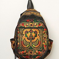 Sabrina Tach Womens Nirvana Backpack - Black Multi, One