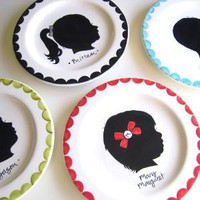 Custom Silhouette Plate Small Plate AS by aedrieloriginals on Etsy