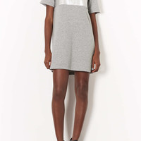Faux Leather Sweat Tee Dress - Dresses - Clothing - Topshop USA
