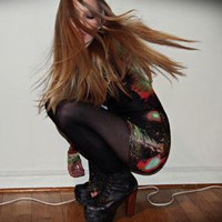 Jeffrey Campbell Shoes //    Cosmic dress - (fashionsquad) by Carolina Engman // LOOKBOOK.nu