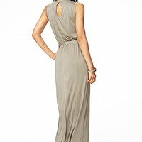 Cutout Jersey Knit Maxi Dress