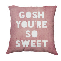 Retro Inspired Home Decor, Gosh,Sweet Typography Throw Pillow, Expressions for The Home - $35.00 - Handmade Home Decor, Crafts and Unique Gifts by The Gosh Shop