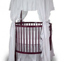 Angel Line Fixed Side Round Crib and Mattress Set - 7059L - Cribs - Nursery Furniture - Baby & Kids' Furniture - Furniture