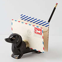 Dachshund Letter Holder by Anthropologie Black One Size House & Home
