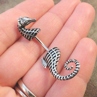 Seahorse Belly Button Jewelry Ring In-N-Out