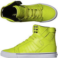 SURFSTITCH - FOOTWEAR - MENS FOOTWEAR - HI TOPS - SUPRA SKYTOP HI SHOE - ACID YELLOW BLACK
