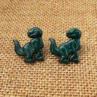 Large T Rex Dinosaur Earrings Free Shipping TRex Earrings Dark Green Dino Jewelry Post Stud Dinosaur Earrings Stocking Stuffer