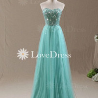 Floor-Length Strapless prom dress,evening dress,formal dress,party dress