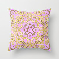 Cassy in Lilac Throw Pillow by Lisa Argyropoulos