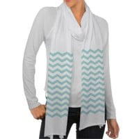 Tiffany Blue Chevron Scarf