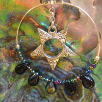 Earrings Star Drops FREE SHIPPING by DarklyngStudios on Etsy