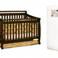 AFG International Furniture Amy 3-in-1 Crib w/ Toddler Guardrail and 260-coil Mattress in Espresso - 4589M - Cribs - Nursery Furniture - Baby &amp; Kids&#x27; Furniture - Furniture