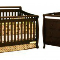 AFG International Furniture Athena Amy Convertible Crib Set in Espresso - 4589M,3358M - Cribs - Nursery Furniture - Baby & Kids' Furniture - Furniture
