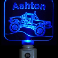Chevy Monster Truck Night Light  Colored or Color Changing  LED Light, Personalize with Name
