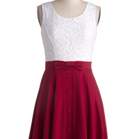 Town Festival Dress in Cherry | Mod Retro Vintage Dresses | ModCloth.com