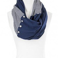 Scoop NYC | Cardigan :: Simone Button Scarf :: Scarves &amp; Gloves - ACCESSORIES