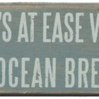 Life's At Ease Box Sign | OceanStyles.com