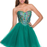 Short prom or homecoming dress with lots of bling 2835NX