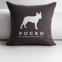 personalized pet silhouette throw pillow cover