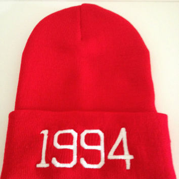 JUSTIN BIEBER WINTER beanie 1994 by winteriscoming2012 on Etsy