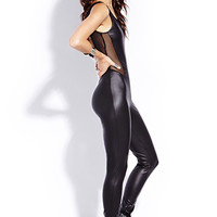 Standout Faux Leather Jumpsuit | FOREVER 21 - 2000090668