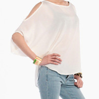 Open Shoulder Yacht Top in White