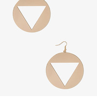 Cutout Triangle Earrings | FOREVER 21 - 1050439353