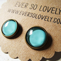 mint green earrings by EverSoLovely
