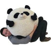 Massive Panda Bean Bag: An Adorable Fuzzy Plush to Snurfle and Squeeze!