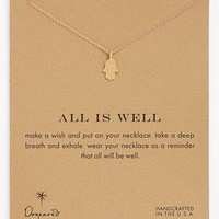 Dogeared 'Reminder - All is Well' Boxed Hamsa Pendant Necklace | Nordstrom