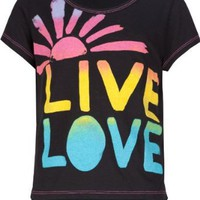 Amazon.com: FULL TILT Neon Live Love Sun Girls Tee: Clothing