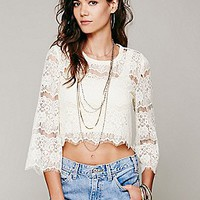 Free People  Sing A Lacey Tune Crop Top at Free People Clothing Boutique