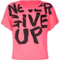 Amazon.com: FULL TILT Never Give Up Girls Tee: Clothing