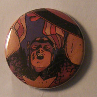 Comic Book 1.5&quot; Button// Captain America
