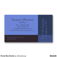 Pretty Blue Blocks Business Cards