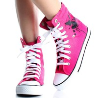 Playboy Bunny Womens High Top Sneakers