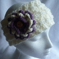 Pdf Knitting Pattern Flower Power Earwarmer Headband | Luulla