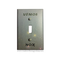 Lumos/Nox Harry Potter Inspired Switch Plate by mwithm on Etsy