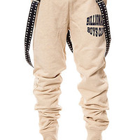 The Billionaire Sweatpants in Heather Oatmeal