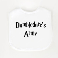 Harry Potter Bib Dumbledores Army by geeklingdesigns on Etsy