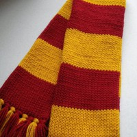 Harry Potter inspired Maroon and Gold Scarf by ShockMePink on Etsy