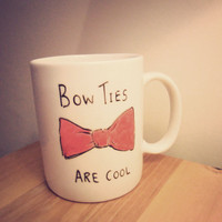 Bow Ties are cool mug by Mr Teacup by MrTeacup on Etsy